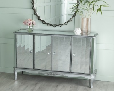 Urban Deco Tiffany French Mirrored Sideboard