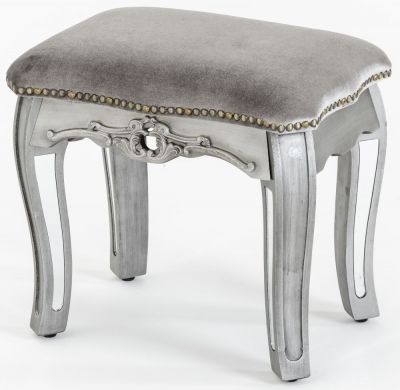 Urban Deco Tiffany French Mirrored Dressing Stool