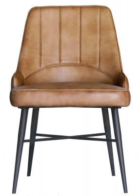 Toronto Beige Buffalo Leather Dining Chair