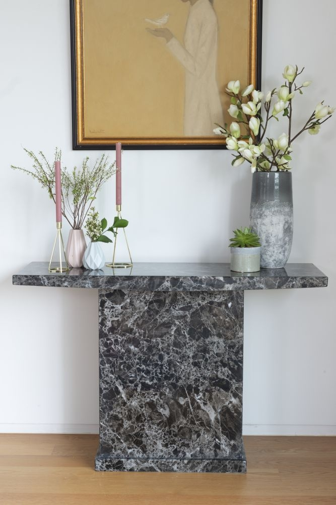 Urban Deco Turin Black Marble Console Table