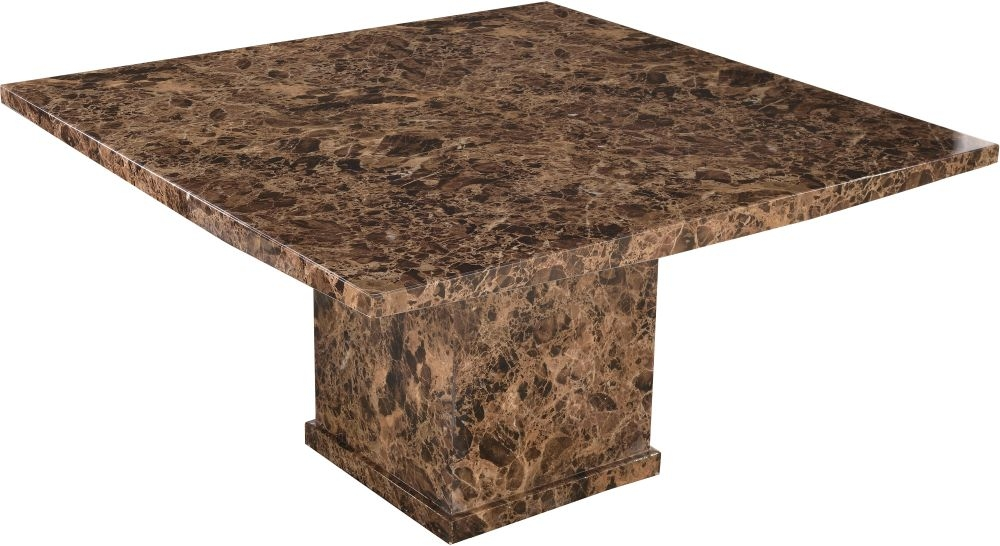 Urban Deco Turin Brown Marble 140cm Square Dining Table