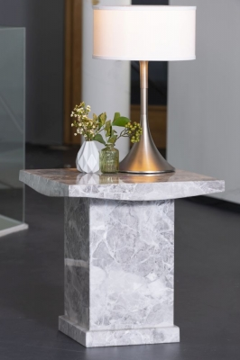 Urban Deco Turin Grey Marble Lamp Table
