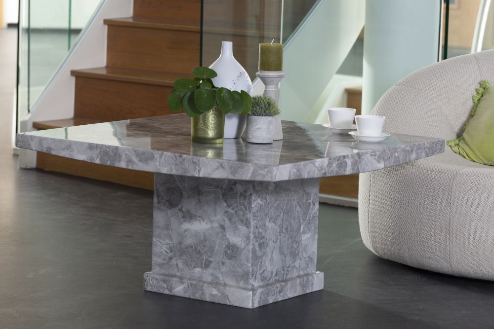 Urban Deco Turin Grey Marble Coffee Table