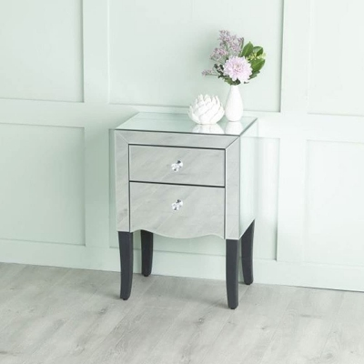 Urban Deco Venetian Mirrored Bedside Table