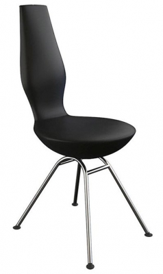 Varier Date Dining Chair with Matte Chrome Legs