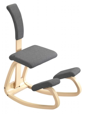 Varier Variable Balans Chair with Backrest and Cushion