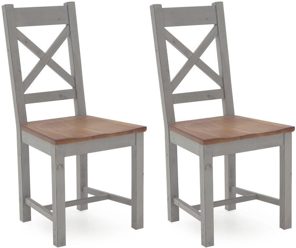 Vida Living Abingdon Antique Grey Painted Dining Chair (Pair)