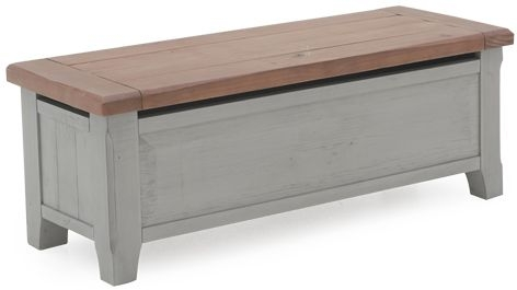 Vida Living Abingdon Antique Grey Painted Blanket Box