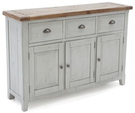 Vida Living Abingdon Antique Grey Large Sideboard