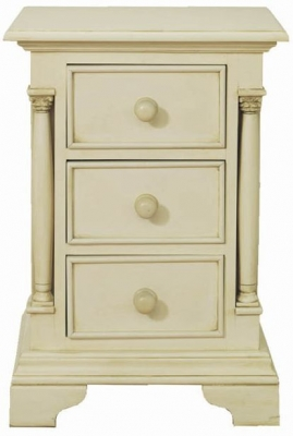 Vida Living Ailesbury Painted Bedside Cabinet - 3 Drawer