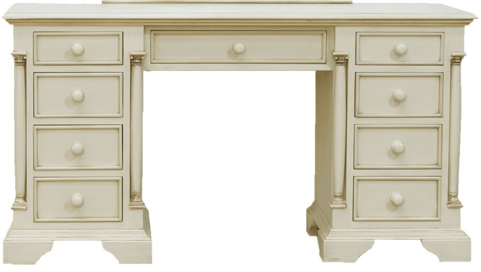 Vida Living Ailesbury Painted Dressing Table - Knee Hole