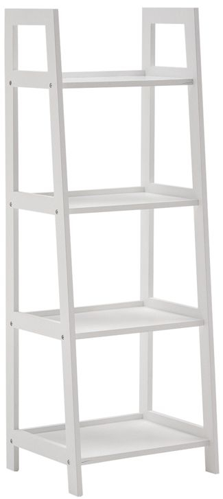 Vida Living Alba White Bookcase - Medium