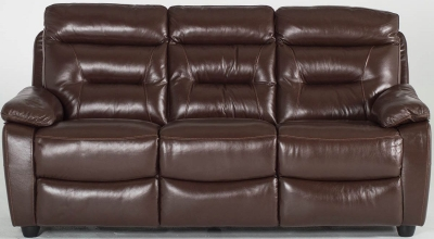 Vida Living Alessio 3 Seater Fixed - Brown