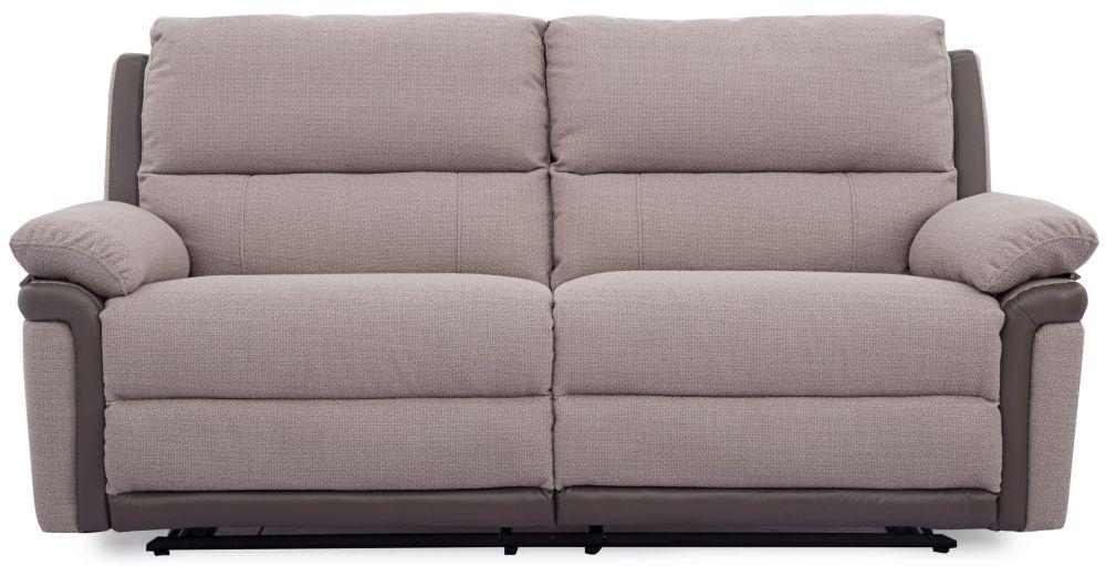 Vida Living Alexandra Oatmeal 3 Seater Recliner Sofa