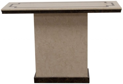 Vida Living Alfredo Beige Marble Console Table