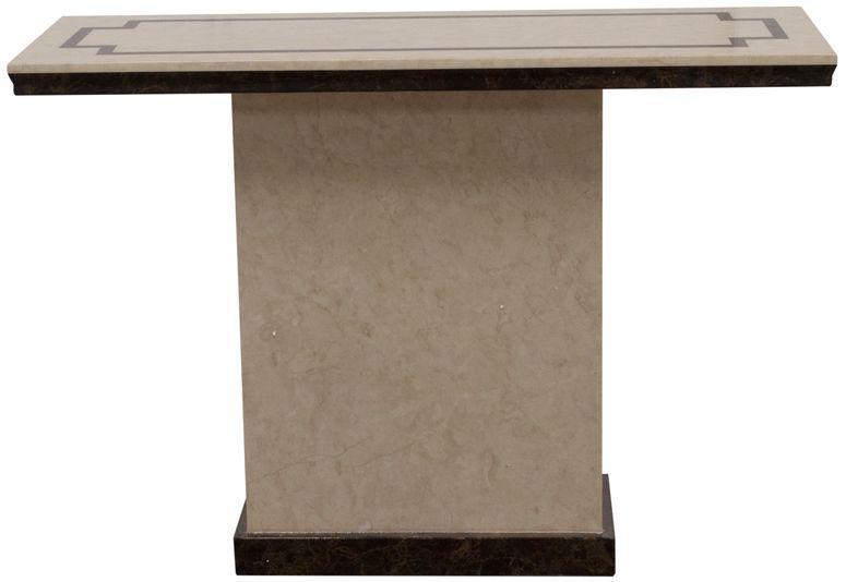Vida Living Alfredo Beige Marble Console Table