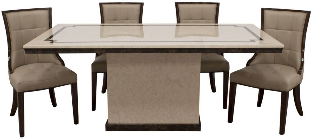 Vida Living Alfredo Beige Marble Dining Table
