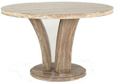 Vida Living Amalfi Round Dining Table - Sahara