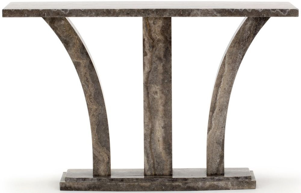 Vida Living Amalfi Pearl Grey Marble Console Table
