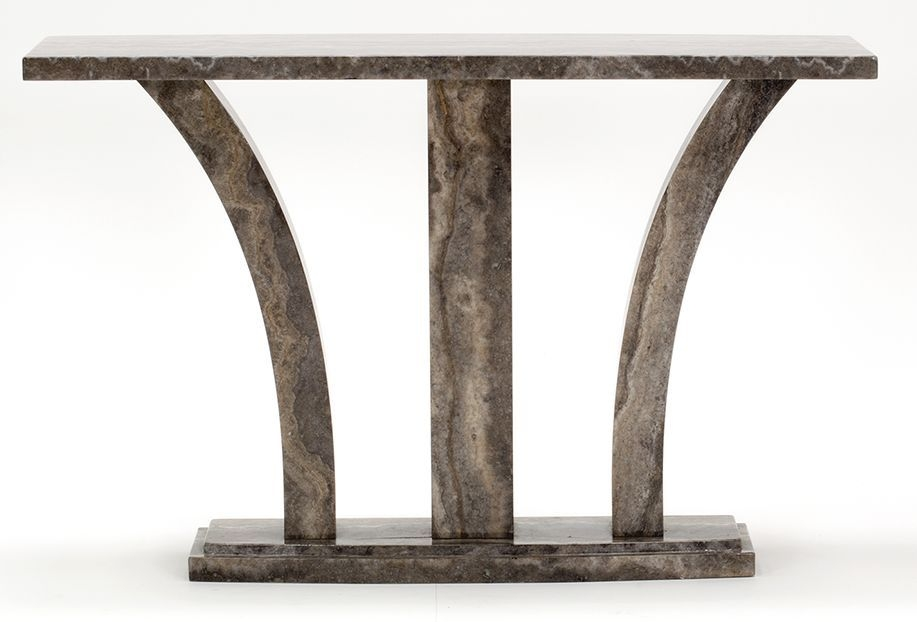 Vida Living Amalfi Marble Pearl Grey Console Table