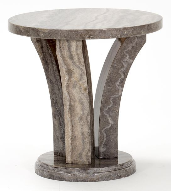 Vida Living Amalfi Marble Pearl Grey End Table