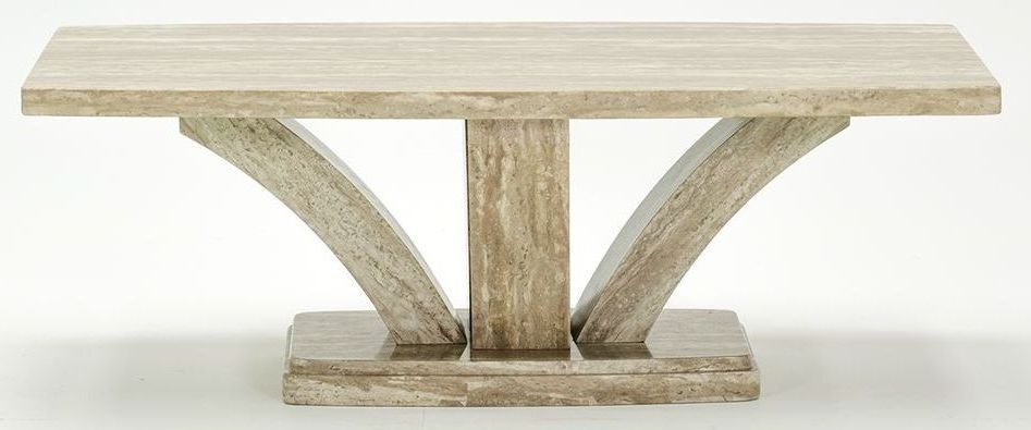Vida Living Amalfi Marble Sahara Coffee Table