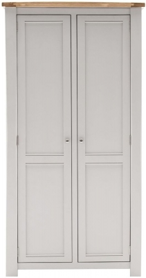 Vida Living Amberly 2 Door Wardrobe - Oak and Grey Painted