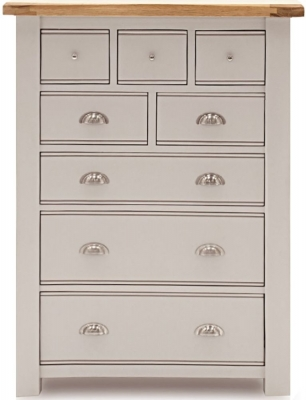 Vida Living Amberly Grey Painted 8 Drawer Tall Chest