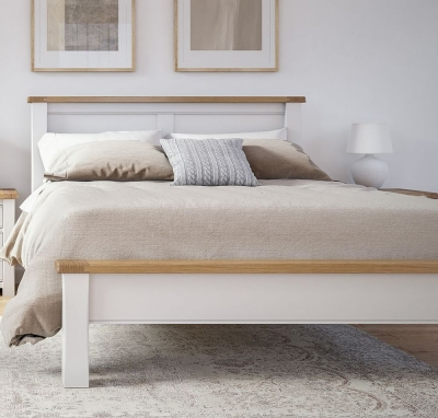 Vida Living Amberly Bed - Oak and Grey Painted