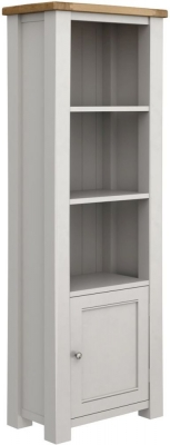 Vida Living Amberly Bookcase - Oak and Grey Painted