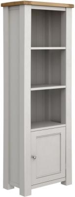 Vida Living Amberly Grey Painted Tall Bookcase