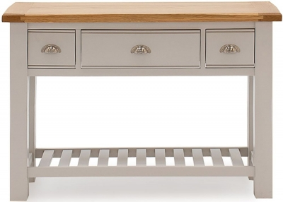 Vida Living Amberly Console Table - Oak and Grey Painted