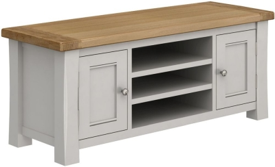 Vida Living Amberly TV Unit - Oak and Grey Painted