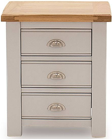 Vida Living Amberly Oak and Grey Painted Bedside Table