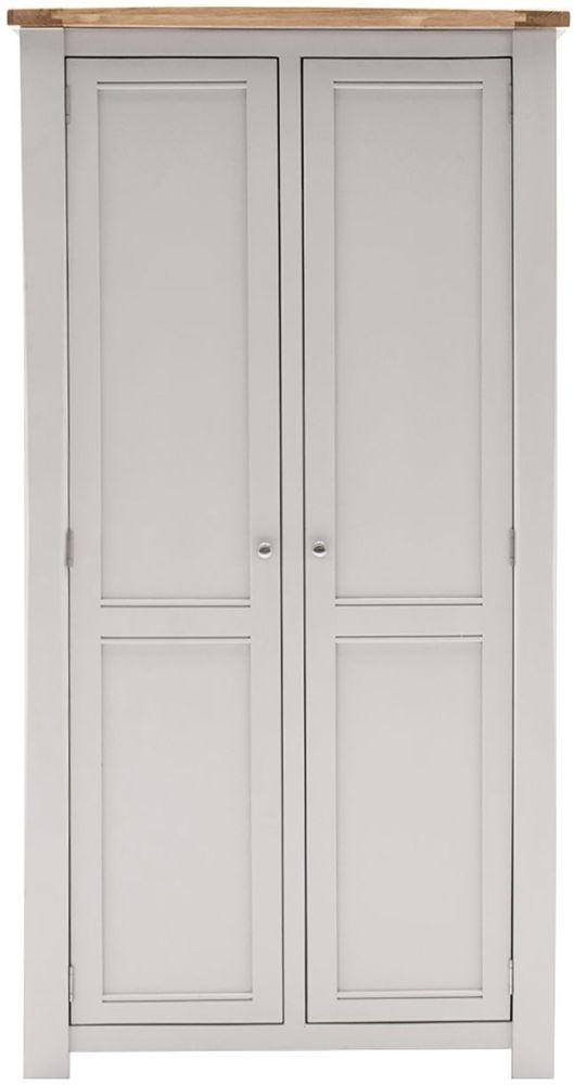 Vida Living Amberly 2 Door Wardrobe - Oak and Grey Painted