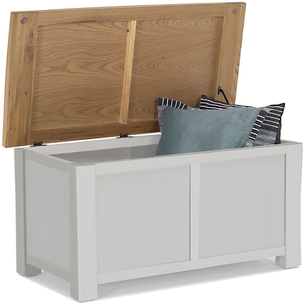 Vida Living Amberly Blanket Box - Oak and Grey Painted
