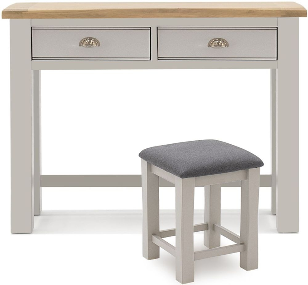 Vida Living Amberly Grey Painted Dressing Table and Stool Set