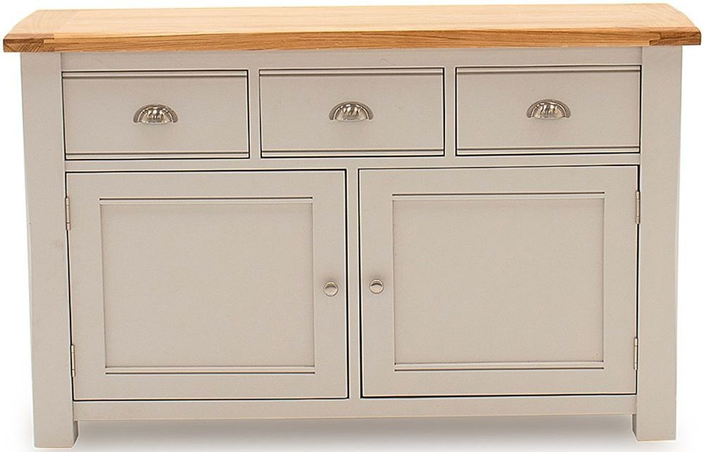 Vida Living Amberly Large Sideboard - Oak and Grey Painted