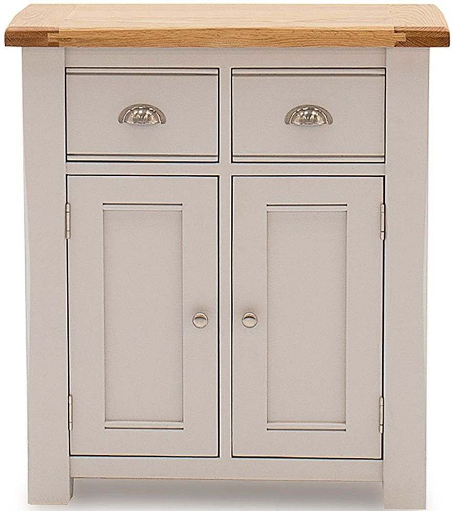 Vida Living Amberly Small Sideboard - Oak and Grey Painted