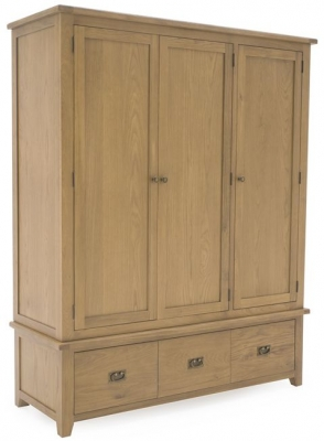 Vida Living Arden Solid Oak Wardrobe - 3 Door
