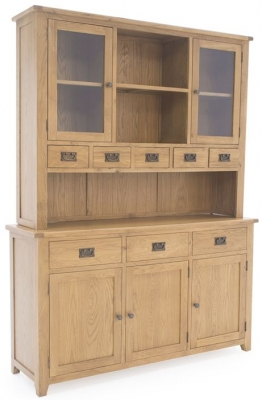 Vida Living Arden Solid Oak Hutch - Large