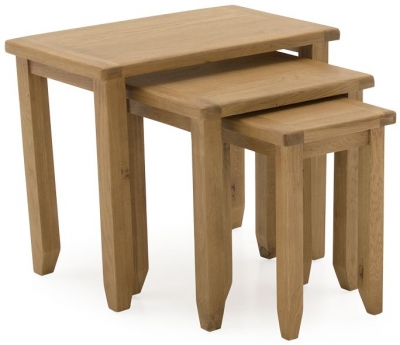 Vida Living Arden Solid Oak Nest of Tables