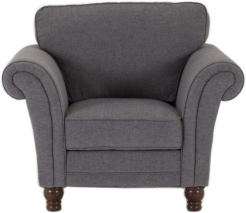 Vida Living Argyle Grey Fabric Armchair