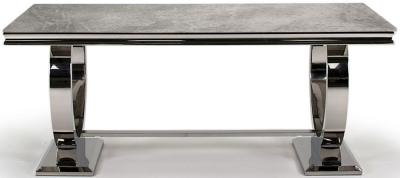 Vida Living Arianna 200cm Grey Marble Dining Table