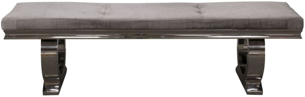 Vida Living Arianna Dining Bench - Velvet and Chrome