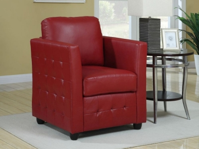 Vida Living Bari Club Leather Armchair - Red