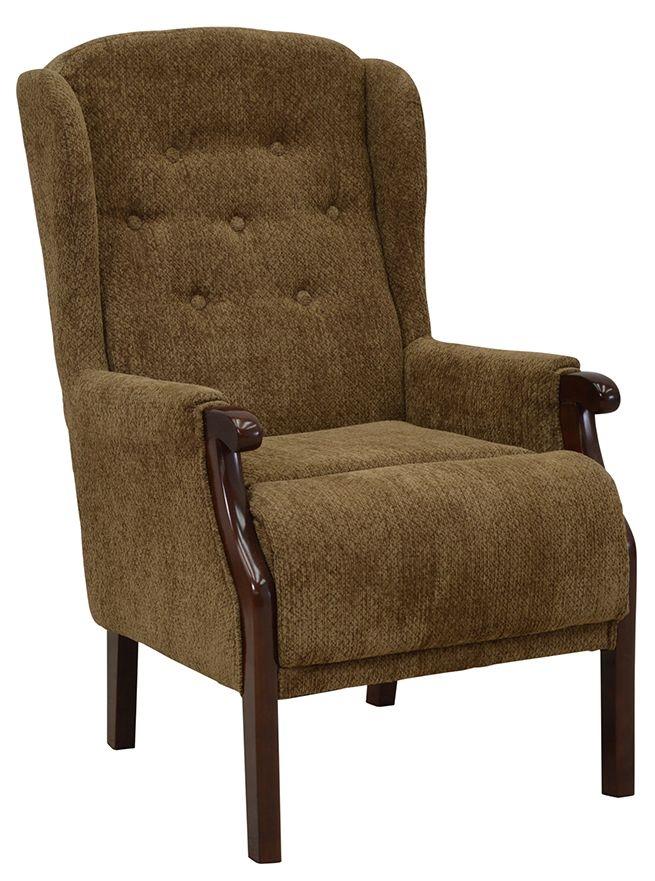 Vida Living Tilbury Fabric Armchair - Brown