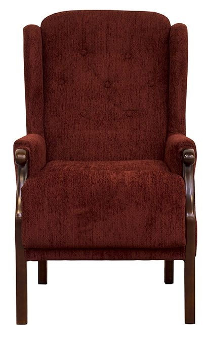 Vida Living Tilbury Fabric Armchair - Red