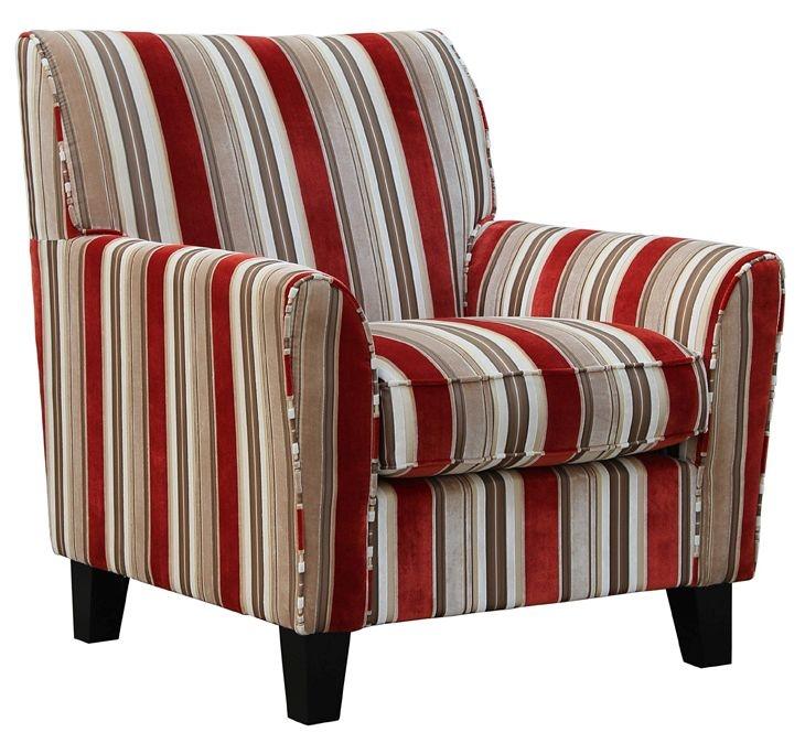 Vida Living Vienna Accent Fabric Fixed Armchair - Striped