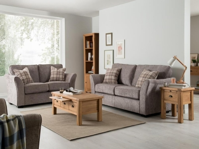 Vida Living Arran 2 Seater Fabric Sofa - Grey